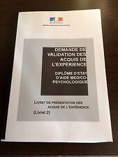 LIVRET 2 VAE AIDE MEDICO PSYCHOLOGIQUE AMP RÉDIGÉ+DEROULEMENT+QUESTION ORAL JURY