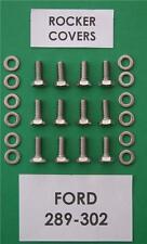 Sb V8 Ford 289-302 Cache-Culbuteurs Kit de Boulons en Acier Inoxydable