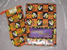 Halloween Ghost Pumpkin Tablecloth Oven Mitt NEW!