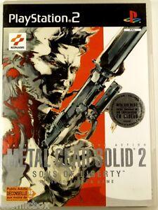 METAL GEAR SOLID 2 - SONS of LIBERTY édition bonus jeu PlayStation 2 PS2 konami