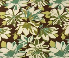 COVINGTON S-CONTESSA FENNEL FLORAL OUTDOOR CUSHION FURNITURE FABRIC BY THE YARD