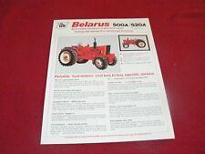 Belarus 500A 520A Tractor Dealer's Brochure