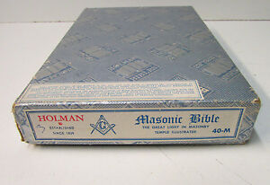 Vintage 1951 Masonic Edition Bible ~ The Great Light in Masonry ~ A.J. Holman