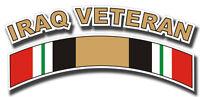 """Iraq Veteran Tab Die Cut 5"""" Sticker / Decal"""
