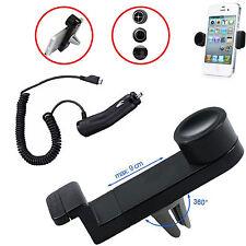 Porta cellulare supporto auto bocchette aria + Caricabatterie per Galaxy S3 NEO