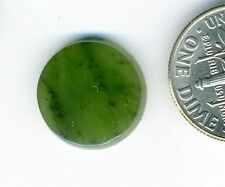 CANADIAN NEPHRITE JADE One 14mm SBBT Single Bevel Buff Top Round Cabochon