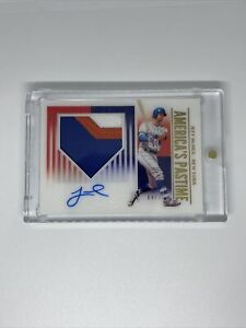 2020 Panini Chronicles Jeff McNeill America's Pastime RC Auto Jersey 9/25 patch