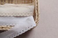 14Yds broderie anglaise vintage cotton eyelet lace trim 3cm YH956 laceking