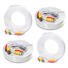 4x 50ft New Video Power Cable CCTV BNC Security Camera Wire DVR RCA Cord