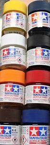 TAMIYA X- und XF-Acrylfarbe 23 ml verschiedene Farbtöne (100ml=20,43€)