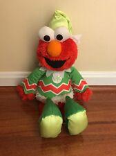 Fisher Price 2007 Sesame Street Holiday Giggle Elmo Elf Plush - Working