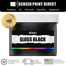 Ecotex Gloss Black Premium Plastisol Ink For Screen Printing 1 Qt 32oz