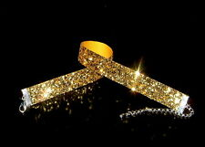 Glitzer-Halsband / Choker - gold-,   70th ,  Sonderpreis