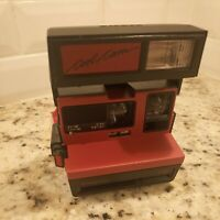Vintage Polaroid Cool Cam 600 Instant Film Photo Camera Red & Black c1