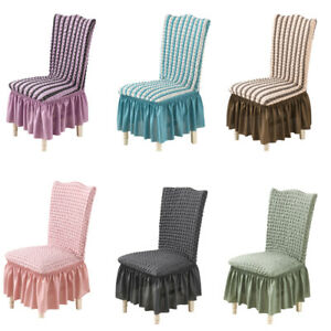 Super Soft Skirt Chair Cover Modern Elastic Dining Room Chair Covers Kitchen New