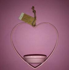 Heart Shaped Hanging Bird Feeder 1 Count Pink