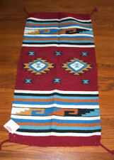 """Throw Rug Tapestry Southwestern Thick Hand Woven Wool 20x40""""   #423"""