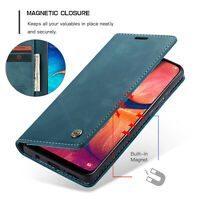 For Samsung Galaxy A80 A70 A50 A40 Leather Magnetic Flip Stand Wallet Case Cover