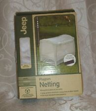 Playpen Transparent Netting By Jeep Includes Storage Bag Nib