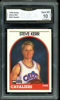 1989 Hoops #351 Steve Kerr RC Rookie Card Graded GMA 10 GEM MINT ~ PSA 10?