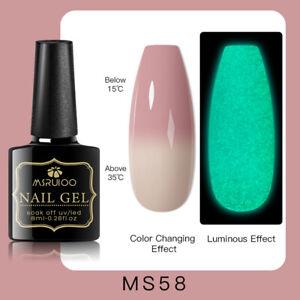 MSRUIOO Luminous Color-Changing UV Gel Nail Polish Soak Off Salon Manicure MS58