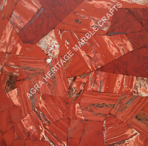 "24"" Random Marble Designer Red Jasper Attractive Slab Inlay Kitchen Decor E253"