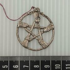 Brooms of The Elders Pentagram Pendant Sterling Silver Wiccan Pagan Witch itm