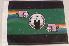 Large Green Nyan cats flag 5 feet by 3 feet Anon 4chan anonymous rainbow cat