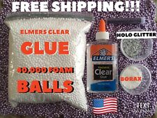 Elmers Washable Liquid School Glue, 5 Ounce Bottle, Clear E305 + Borax & Glitter