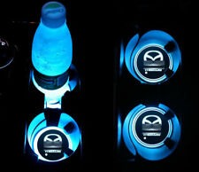 2PCS LED Car Cup Holder Pad Mat for MAZDA Auto Atmosphere Lights Xmas Gift