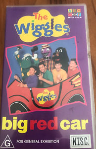 THE WIGGLES BIG RED CAR  AS NEW NTSC VHS VIDEO FOR USA PLAYERS