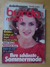 BURDA MODEN 1983/05 Hochzeit romantische Braut Urlaub  Modezeitschrift 80er J