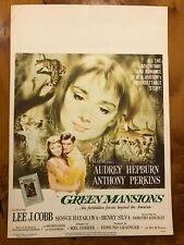 Original Window Card 14x22 Green Mansions (1959) Audrey Hepburn, Anthony Perkins
