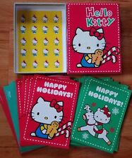 Sanrio Hello Kitty Happy Holidays Notecards Set 20 w/Envelopes/Stickers NEW!