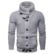 Mens Knitwear Cardigan Jacket Casual Knitted Stylish Buttons Knitting Sweater
