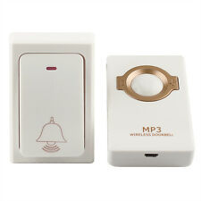 Wireless Doorbell+ Receiver MP3 Digital Long Range&Self-powered Remote Button