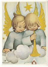 CARTE POSTALE ILLUSTRATEUR HUMMEL N° 14647 ENFANT ANGE TROMPETTE