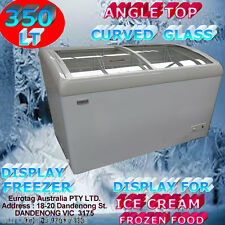 EUROTAG DISPLAY CHEST FREEZER 350L ANGLE TOP/CURVED GLASS -EU-350 RRP$1490.00