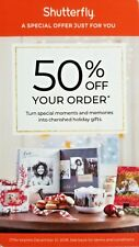 SHUTTERFLY 50% Off Your Order Coupon Code Exp 12/31/18 BN2R or KHBE Promo