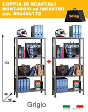 Coppia Scaffali Metallo Offerta Lampo    L.90 x P.40 x H.172   4 Ripiani