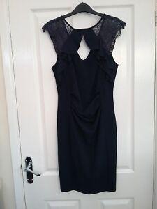 Lipsy London Navy Blue Sweetheart Bodycon Midi Dress Size 12 BNWT