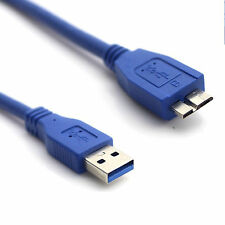 2.5m USB 3.0 Type A Male To B Micro Cable Data Sync HDD Hard Disk Blue Lead