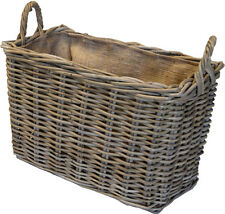Large General Use Premium Rattan Wicker Lined Storage Basket - FIR223
