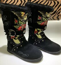 Ed Hardy Suede Mocasin Boots Euro Size 36 - US Size 5