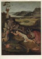 Alte Kunstpostkarte - Hieronymus Bosch - Der Heilige Hieronymus
