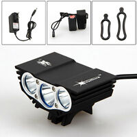 SolarStorm 3x XM-L T6 LED 12000Lm Cycling Front Bicycle Lamp Bike Light Battery