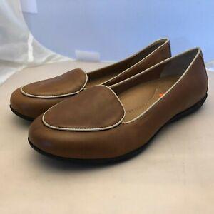 Dansko Nastacia Tan Nappa Leather Flat Loafer Slip On Comfort NEW Size 37 US 7