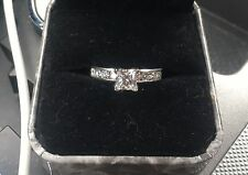 diamond engagement ring. Color I, VS1 .93 carats center princess cut