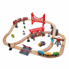Hape E3730 Busy City Train Rail Set Nourrissons Enfants wooeden Jouet Enfants Âg...