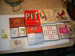 Lot of 4 Vintage Pit Card Games Flash Cards Empire Puzzle Game